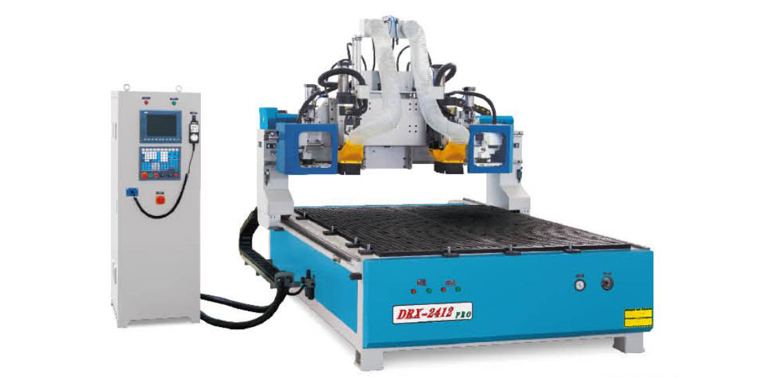 DRX-2412PRO II  Double Tool Changers and Twin Spindle CNC machine